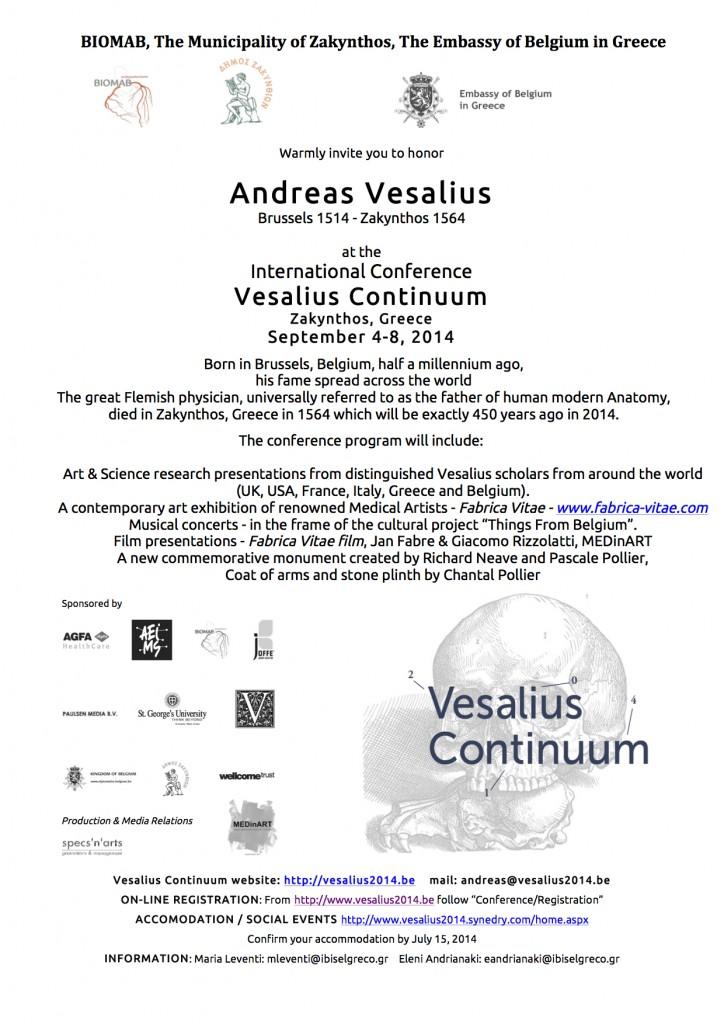 MEDinART in Vesalius Continuum (4-8 September 2014, Zakynthos, Greece)