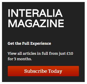 MEDinART collaboration with Interalia Magazine