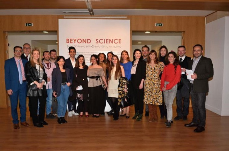 MEDinART in the Embassy of Cyprus. Exhibition BEYOND SCIENCE. Athens-GR