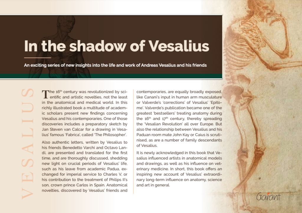"""""""In the Shadow of Vesalius""""_New book about the life and work of Andreas Vesalius"""